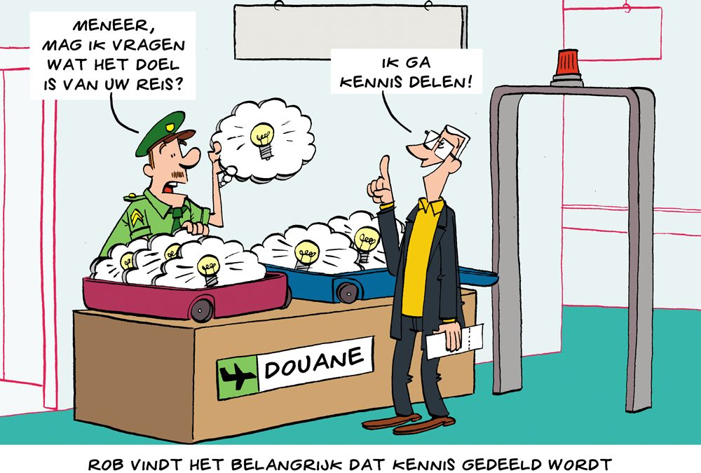 Cartoon: kennis delen