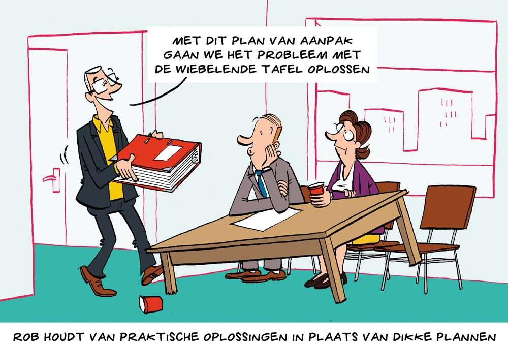 Cartoon: nuchtere aanpak