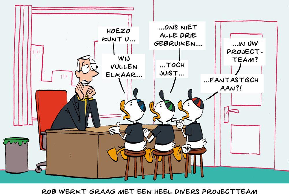 Cartoon: oog voor mensen