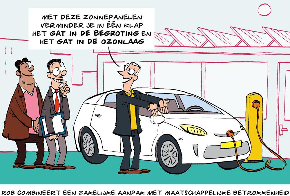 Cartoon: zakelijke aanpak