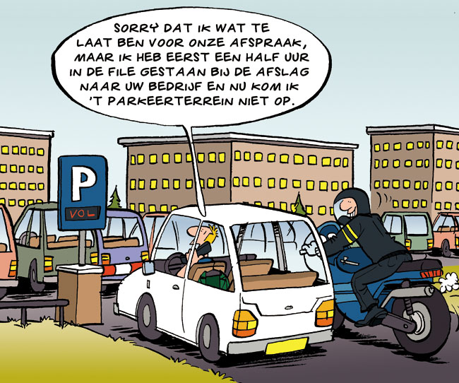 Cartoon: te laat
