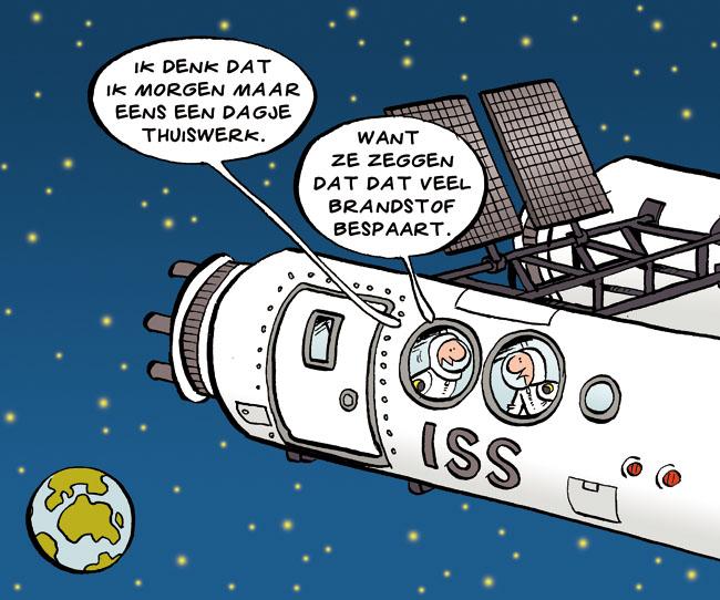 Cartoon: ruimtevaart