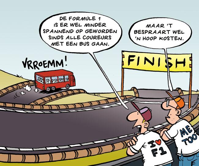 Cartoon: formule 1