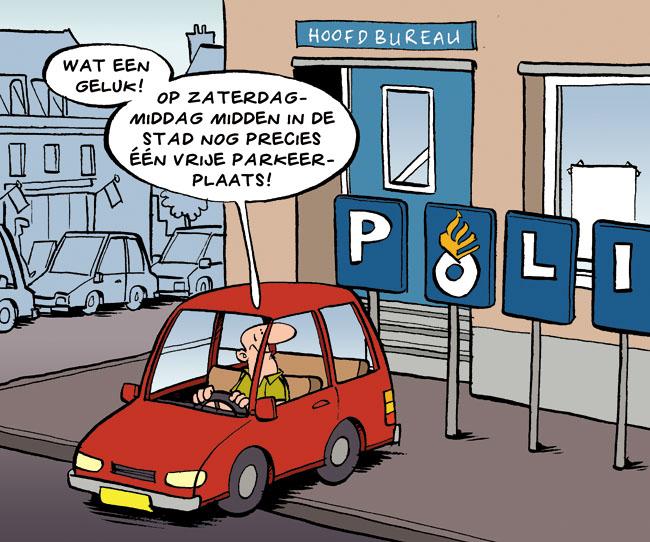 Cartoon: parkeren